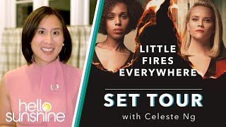 Celeste Ng Visits Reese Witherspoon On The Set Of Little Fires Everywhere