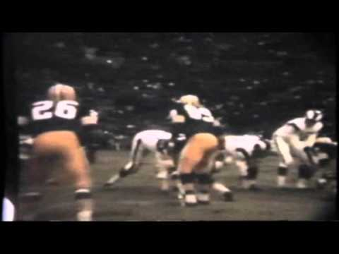 Packers Rams 1967 playoff County Stadium - game before ice bowl (First sacker - Deacon Jones)