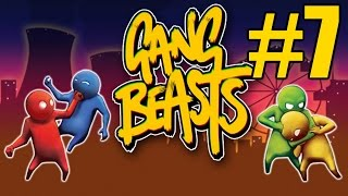 Gang Beasts Gameplay Father vs Daughter #7 - Wave Survival (PC)