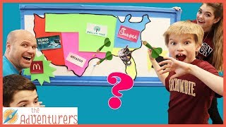 Throwing A Dart At A Map And Buying Whatever It Lands On / That YouTub3 Family I Family Channel thumbnail