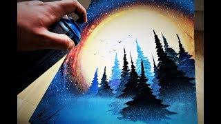 Bright Night - SPRAY PAINT ART by Skech