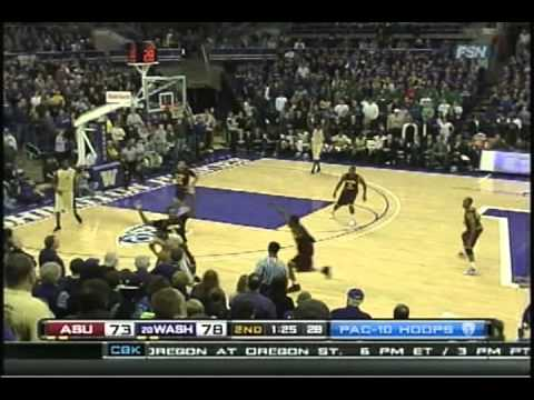 Washington Huskies vs. Arizona State Sun Devils Basketball 2011 Part 2