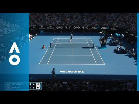 Federer's insane sky-high rally against Fucsovics | Australian Open 2018