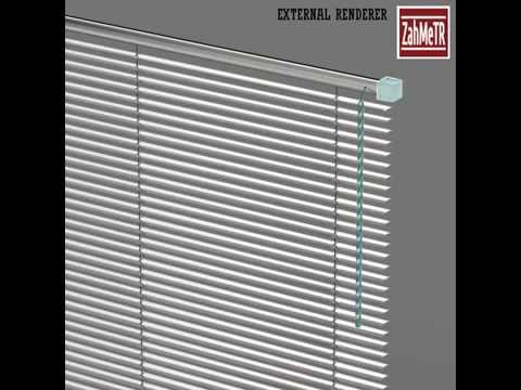 Venetian Window Blind Low Poly 3D Model Preview Quad Based