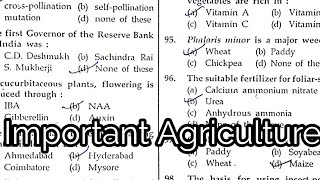 Agriculture paper, MPPSC, pre, 2008, important agriculture questions, all India Agriculture exam