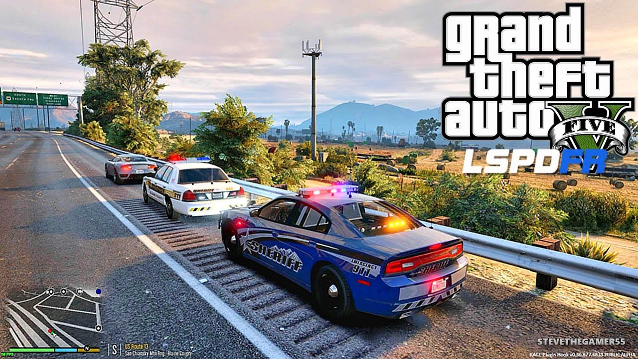 gta 5 lspdfr 0 3 1 episode 27 let 39 s be cops sheriff patrol gta 5 pc police high speed. Black Bedroom Furniture Sets. Home Design Ideas