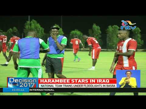 Harambee stars trains under floodlights in Basra