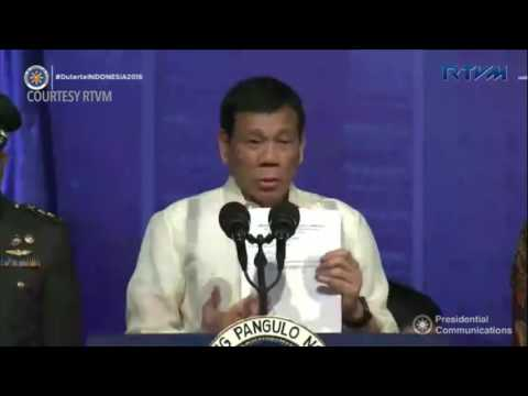 Duterte on human rights and Obama encounter