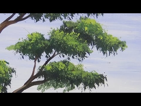 Acrylic Painting Bonsai Tree Painting