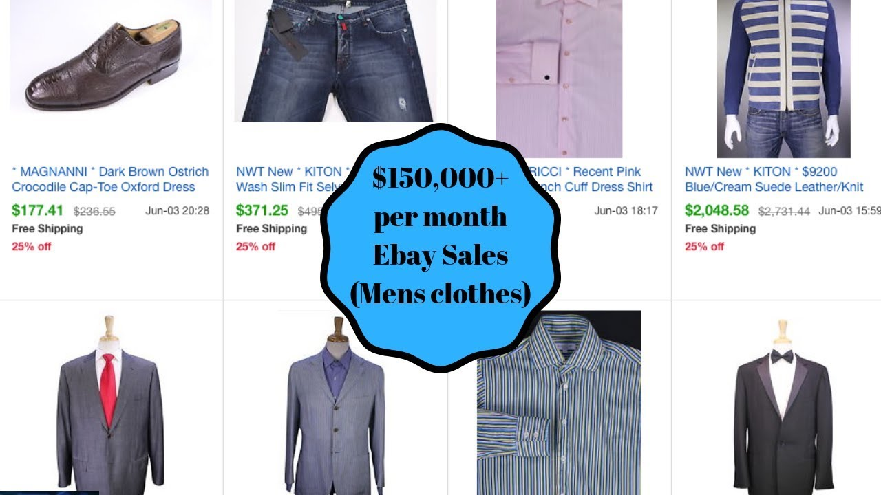 32a204d1 $150,000 a month selling mens clothing on Ebay. You CAN MAKE MONEY ...