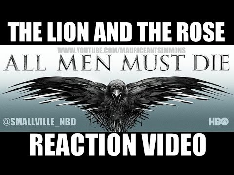 """Game of Thrones Season 4 """"The Lion and the Rose"""" NO WORDS Reaction Video PART 1"""