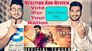 Sarkar Official Teaser Reaction And Review | Thalapathy Vijay| M BROS INDIA