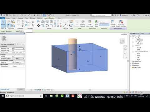 Tự học Revit Structure Bài 34 Dựng family bằng công cụ Void Forms trong Revit