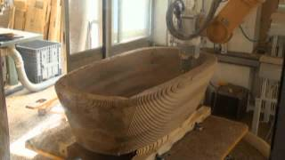 Miling A Bathtub Out Of Precious Walnut Wood