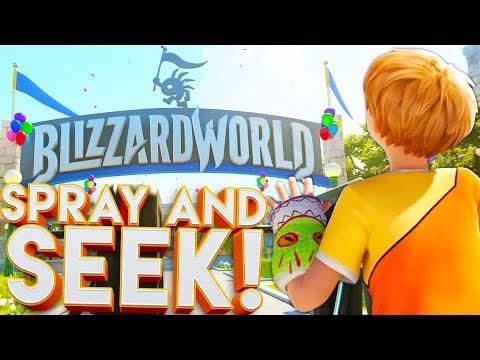 OVERWATCH BLIZZARD WORLD SPRAY AND SEEK!?