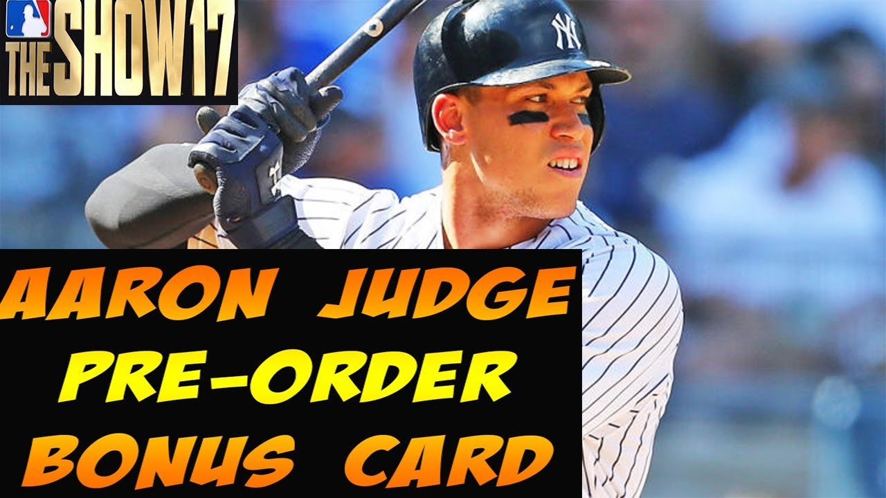 All Rise For 94 Aaron Judge Mlb The Show 18 Pre Order Reward Card