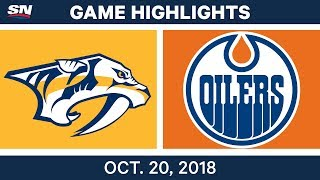 NHL Highlights | Predators vs. Oilers - Oct. 20, 2018