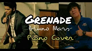 Grenade - Bruno Mars w/ Lyrics / Instrumental (KiKOMi Piano Cover)