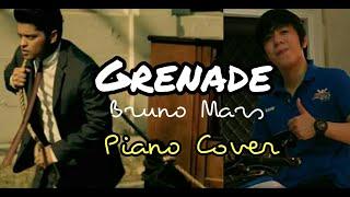 Grenade - Bruno Mars w/ Lyrics / Instrumental (KiKOMi Piano Cover)