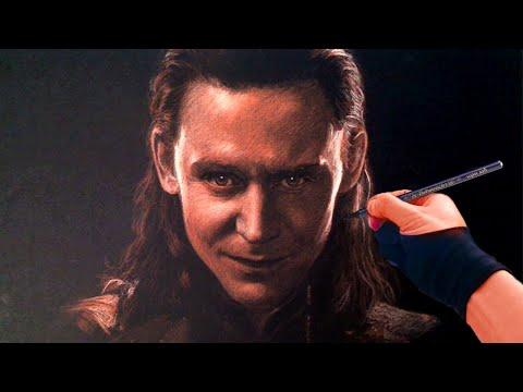 Graphic Designer Dubai Speed Drawing Tom Hiddleston