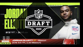Browns select Missouri DT Jordan Elliott with No. 88 pick in 2020 draft