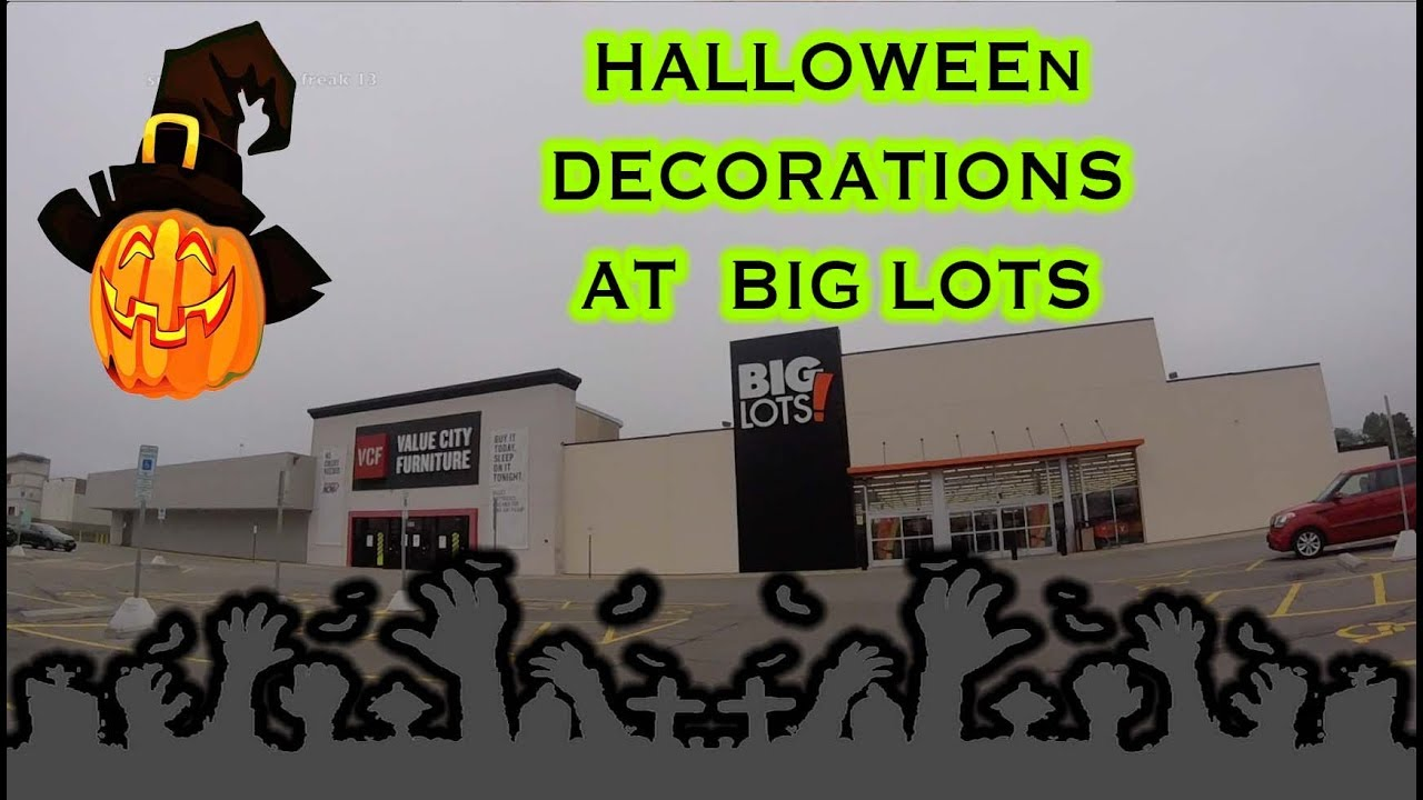 Big Lots Halloween Decorations 2018 and A Foggy Morning