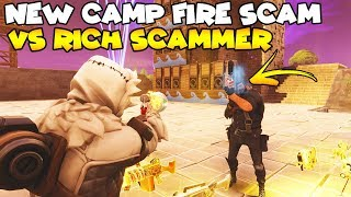 NEW Camp Fire SCAM! 🔥🔥  (Scammer Gets Scammed) Fortnite Save The World
