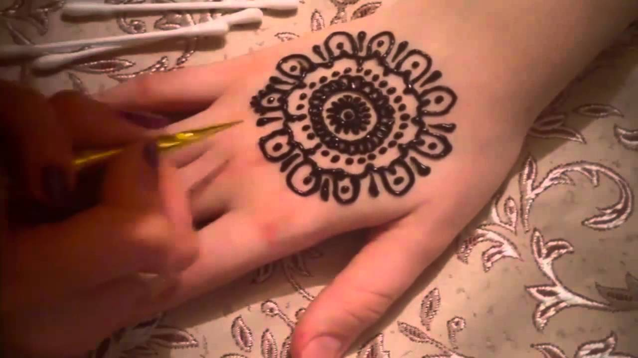Mehndi Patterns For Shoulder : Simple mehndi design for hands love designs youtube