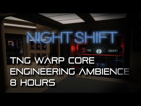 🎧 Star Trek: TNG Warp Core Ambience / Engineering NIGHT SHIFT (sleep, study, white noise, deep bass)