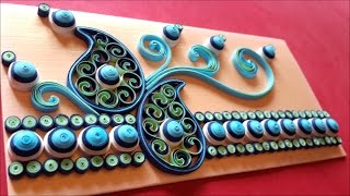 Ornamental paper quilling envelope( design two)
