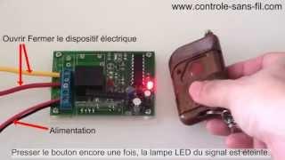 Kit Émetteur Récepteur Sans Fil pour lampe/moteur 12V Mode Triggering