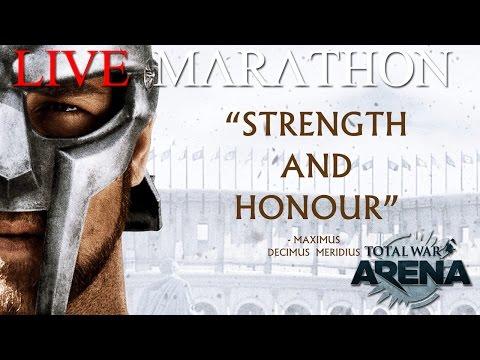 Live Total War Arena Marathon Gold Session - 6  Victories 12k Gold Or Death!