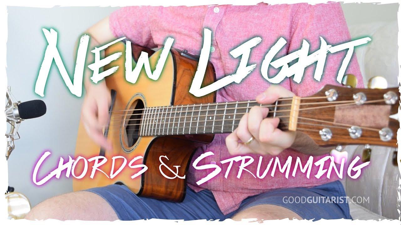 New Light Guitar Tutorial Chords Strumming John Mayer Youtube
