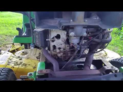 John Deere repeatedly starts and then dies, and has fuel leak