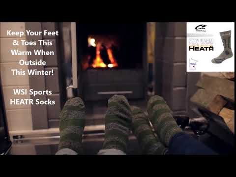 Keep Your Feet And Toes Warm This Winter - Made In USA Cold Weather Socks - WSI HEATR