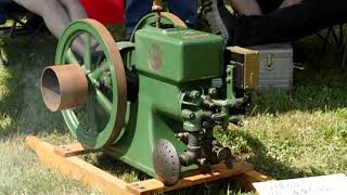 1 1/2 HP Hercules Hit and Miss engine - First run after restoration - Pepperell Crankup 2019