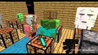 [Minecraft Parody] Monster School: Crafting - ITA