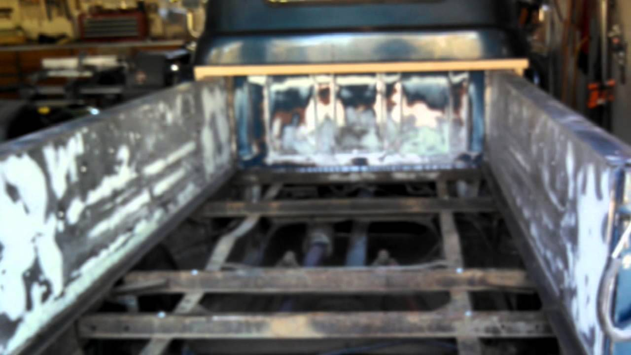 Truck 57 chevy truck bed wood : Installing a new wood bed in a 57 Chevy 3200 picku - YouTube