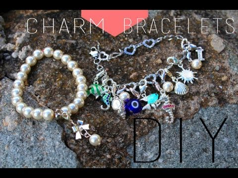 DIY : Bracelets Charm Swarovski / Charm Bracelets Pandora Swarovski Imitation (english Subs)