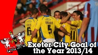 Exeter City Goal of the Year 2013/14