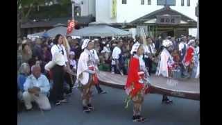 11/18 静岡県掛川市で行われました。焼津神社の獅子木遣り 撮影:磐田住人.
