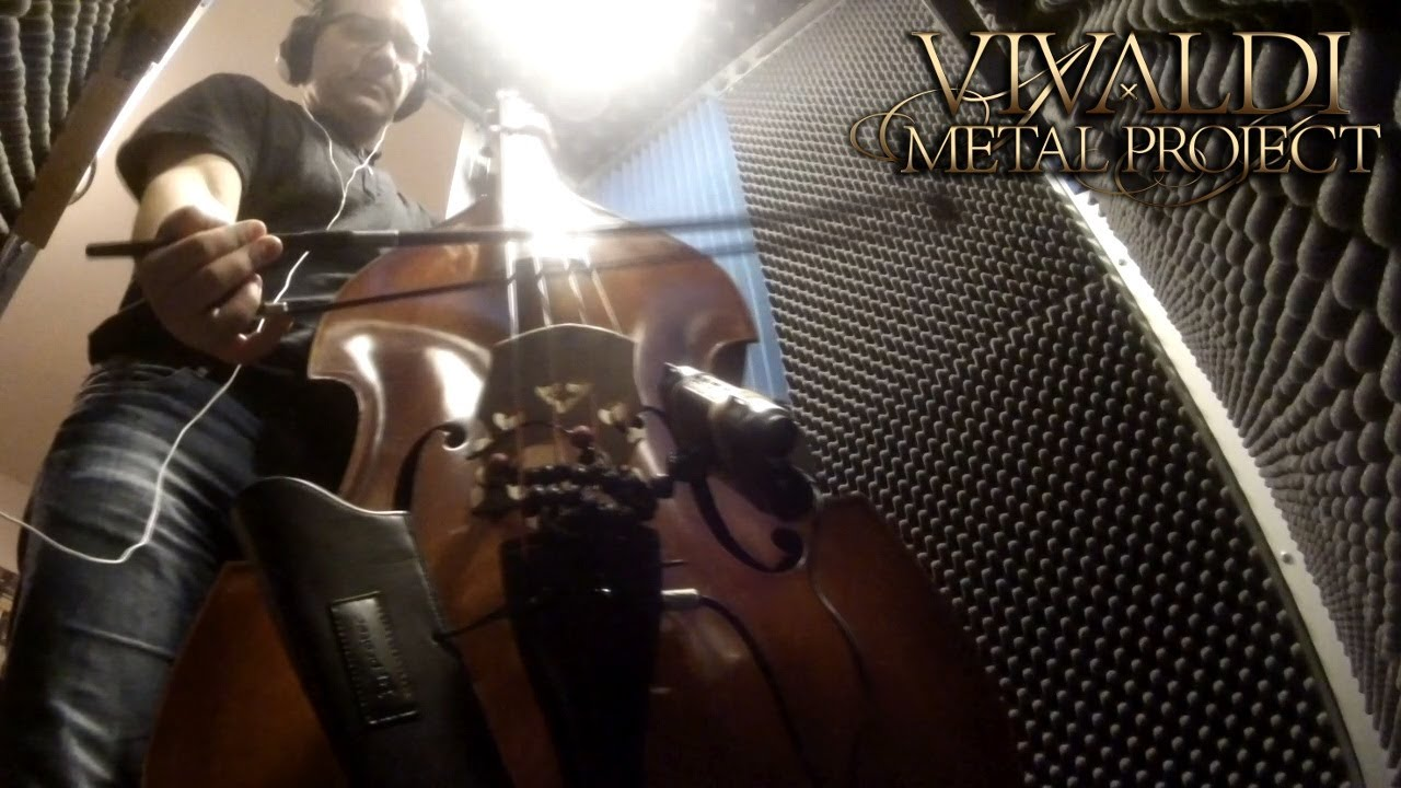 Contrabass player Nicola Angileri - Sneak peek from the studio for our new album