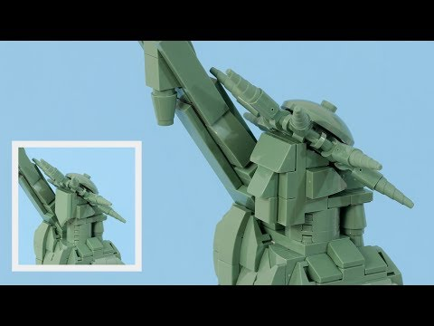 LEGO 21042 Statue of Liberty Facelift Tutorial
