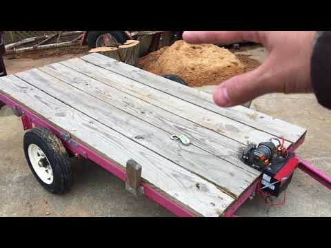 Harbor Freight Log Trailer-It can work!!!!