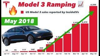 Model 3 = Best Selling US EV of May 2018 🔥