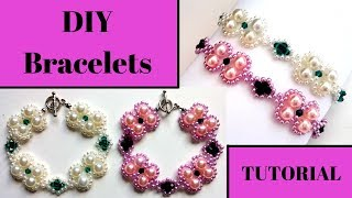 ✅How to make elegant diy bracelets.  🔔Easy beading tutorial