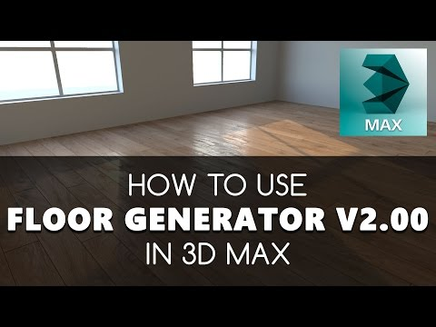 Floor Generator 2 - How to use script in 3D Max  Free tutorials | Learning  videos