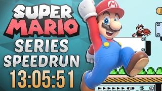 Super Mario Series Speedrun in 13:05:51 (Super Mario Bros. 3)