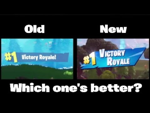New VS Old Victory Royale Screen | VioticX