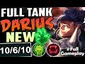 FULL TANK DARIUS TRYING THE NEW GRASP | New Runes Darius vs Nasus TOP BUILD | PBE SEASON 8 Gameplay